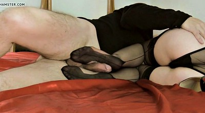 Nylon footjob, Pantyhose footjob, Nylon feet, Mature feet