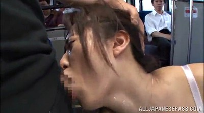 Bus, Asian gangbang, On bus, Asian public