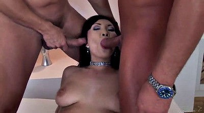Bukkake, Asian double, Facial, Spread, Asian gangbang