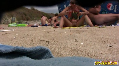 Nudist, Big clit, Clit, Video, Public beach