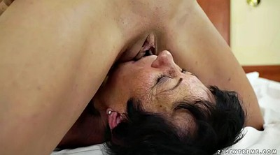 Young lesbians, Wake up, Lesbian pussy licking
