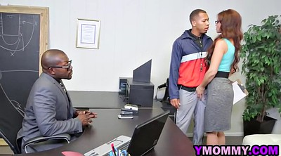 Glasses, Busty mom, Ebony moms, Black mom, Mom big cock, Black and mom
