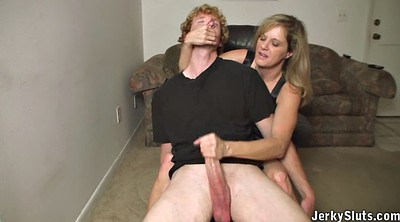 Mom son, Mom handjob