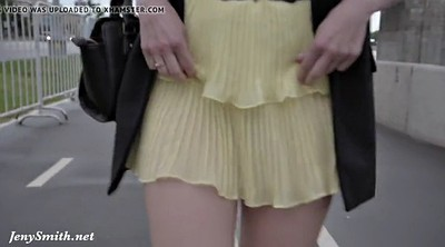 Flashing, Street, Upskirt panty, Jeny smith