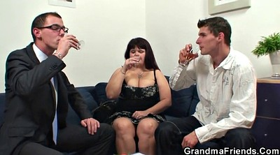 Huge boobs, Granny threesome, Young mommy, Huge granny, Big boobs threesome