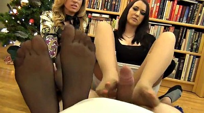 Pantyhose, Double, Pantyhose footjob, Alexi, Pantyhose foot