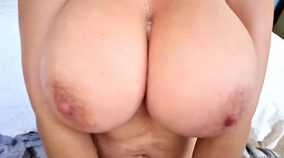 Busty pov, Throat cum