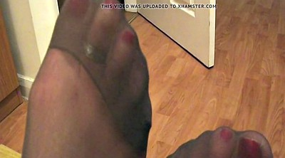 Nylon feet, Pantyhose feet, Black pantyhose, Barely, Pantyhose, Foot feet