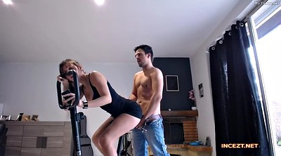 Sister, Gym, Sister creampie, Gym fuck, Bike