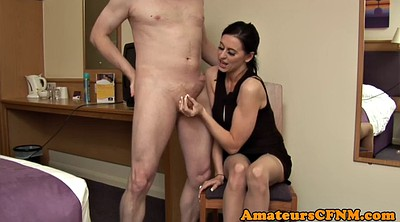Tugging, While, Pussy rubbed, Cfnm handjob
