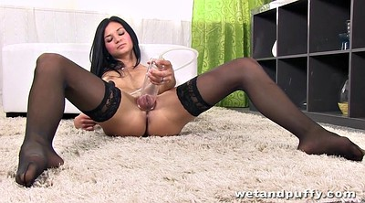 Sexy, Ebony solo, Stockings solo, Stocking masturbation, Solo stocking