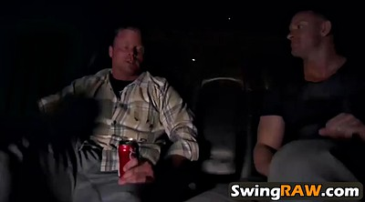 Swinger, Orgy, Car blowjob, Orgy party