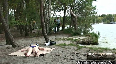 Old granny, Granny and boy, Wife boy, Wife outdoor, Very young, Granny fuck
