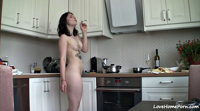 Nude, In the kitchen