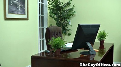 Office, Hunk, Gay office, Muscle cum