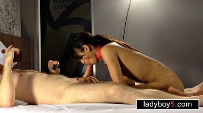 Ladyboy, In front of, Front, Asian pov