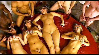 Blindfolded, Four, Insane, Interracial orgy, Group gay