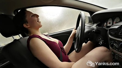 Busty, Masturbation in car