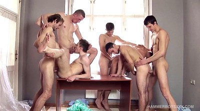 Hospital, Gay orgy, Gay group, Anal young