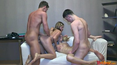 Orgy, Blindfolded, Amateur foursome