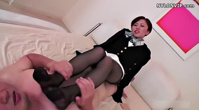 Nylon, Japanese pantyhose, Japanese black, Nylon footjob, Japanese footjob, Pantyhose footjob
