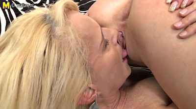 Granny lesbian, Old girl, Hot mother