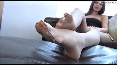 Nylon foot, Nylon feet, Foot tease
