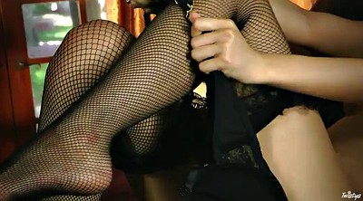 Model, Fishnet, Asian masturbation