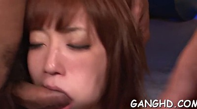 Japanese group, Japanese gangbang, Japanese blowjob