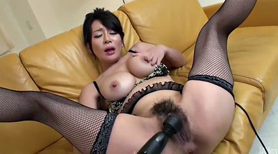 Injection, Japanese licking, Japanese four, Cum in mouth, Hairy milf, Japanese mouth