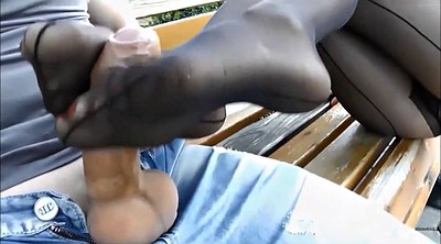 Footjob, Nylon feet, Nylon footjob, Foot fetish, Teen feet, Nylon foot
