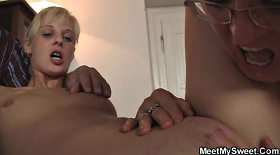 Father, Mom threesome, Mom teaching, Mom teach, Granny mom