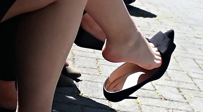 Candid, Shoeplay, Feet fetish, Candid feet