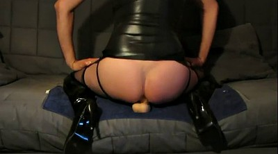 Boots, Huge dildo, Latex dildo
