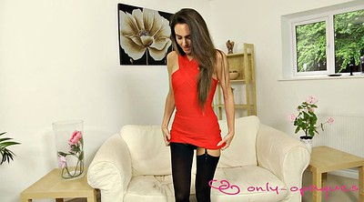 Clothed, Dress, Red milf