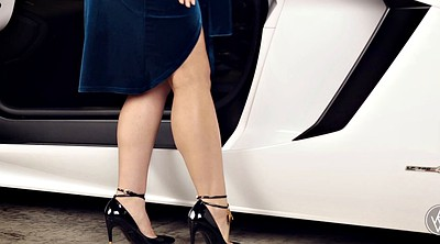 Car, Heels, Beauty solo, Big woman, Woman solo, Woman