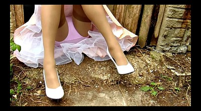 Upskirts, Farm, Nylon stockings