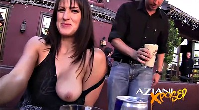 Flashing, Hollywood, Public masturbation, Bar, Upskirts, Public fingering