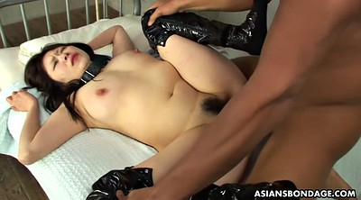 Asian, Pissing, Missionary creampie, Gagged, Hairy piss, Boobs lick