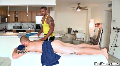 Oiled, Muscular, Gay massage
