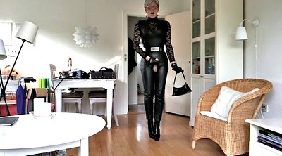 Leather, Pose, Heels mature