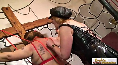 Whip, Granny lesbian, Femdom whip, Leather