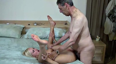 Anal granny, Old grandpa, Granddaughter, Anal blonde