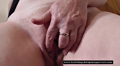 Upskirt, Grannies, British, Perverted, British mature