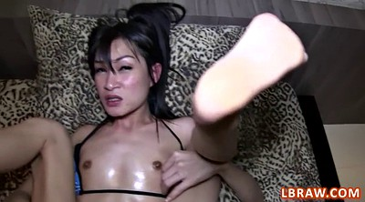 Asian shemale, Shemale fuck shemale, Anal pov