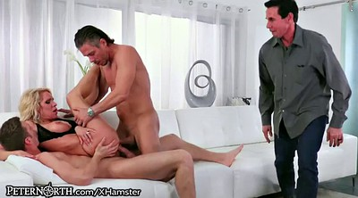 Wife threesome, Milf dp
