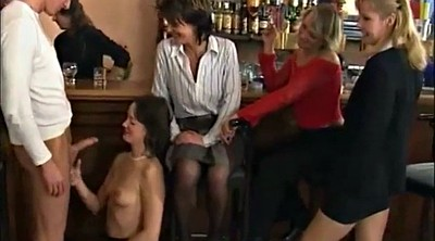 Bar, Wife handjob, Sex party, Mature wife