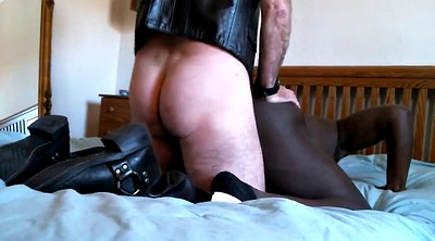 Gay slave, Interracial dp, White, Black master