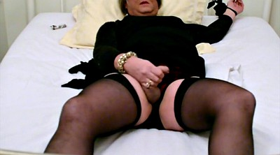 Tied orgasm, Stocking masturbation, Self bondage
