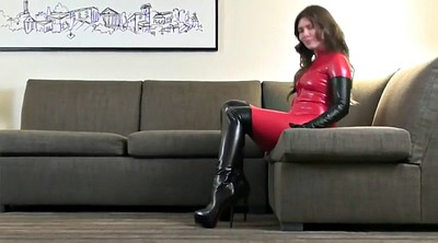 Red, Red boots, Catsuit